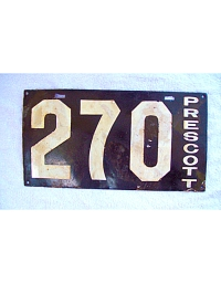 old Arizona porcelain license plates