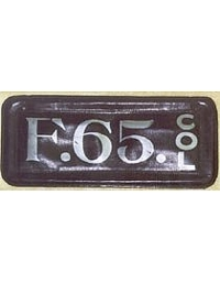 old Colorado leather license plate 3
