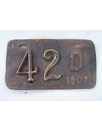 old Delaware leather license plate 3