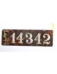 old Florida metal license plates