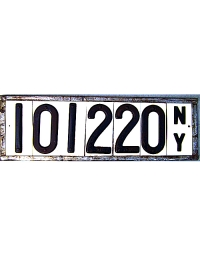 antique license plates 1910