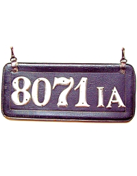 old license plates 1906-07