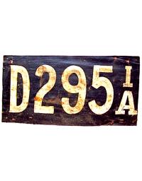 vintage license plates iowa
