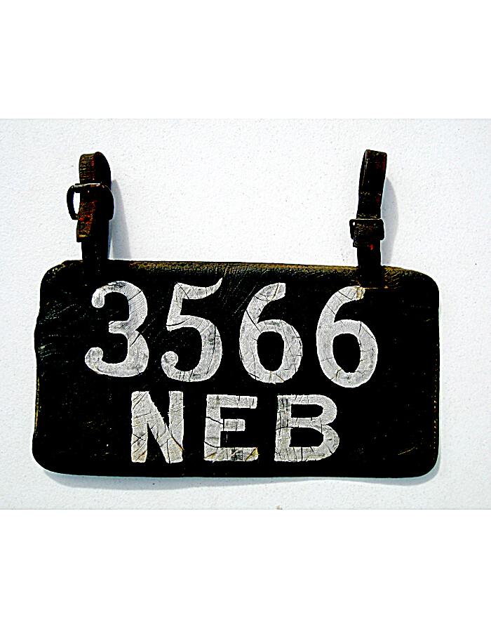 Leather License Plate History