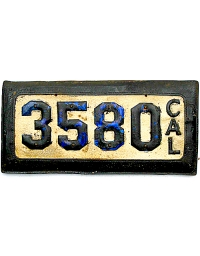 leather license plate california