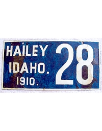 leather license plate Hailey, ID