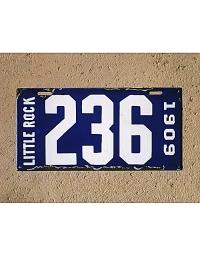 leather license plate arkansas