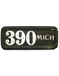 leather license plate michigan