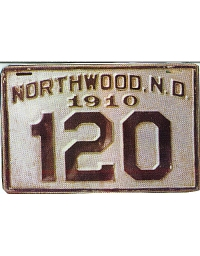 old metal license plates Northwood, ND