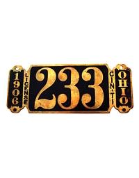 old brass license plates Cincinnatti, OH