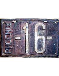 old metal license plates arizona
