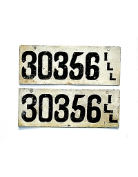 old Illinois metal license plates 7