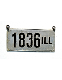 old Illinois metal license plates 3