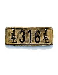 old Illinois leather license plate 3