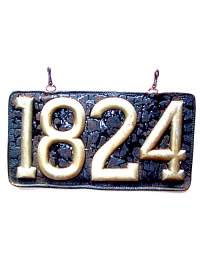 old Illinois leather license plate 8