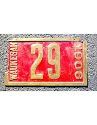 old Illinois brass license plate 2