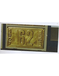 old Illinois brass license plate 4