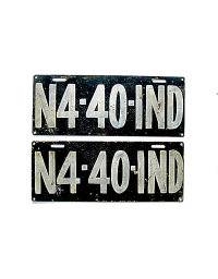 old Indiana leather license plate 3