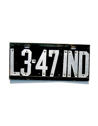 old Indiana metal license plates 3