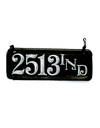 old Indiana leather license plate 1