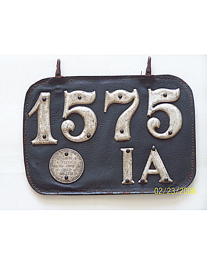 Old Iowa License Plates   Vintage Iowa License Plates