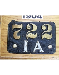 old Iowa leather license plate 11