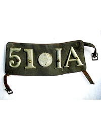 old Iowa leather license plate 1