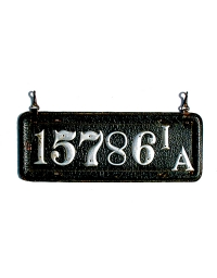 old Iowa leather license plate 7