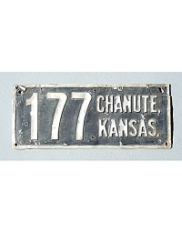 old Kansas metal license plates 4