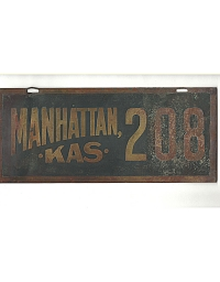 old Kansas brass license plate 3