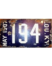 Vintage Kentucky License Plates 1