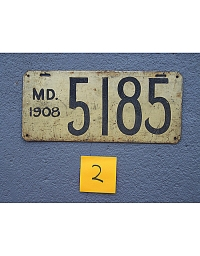 old Maryland leather license plate 7