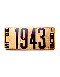 old Minnesota leather license plate