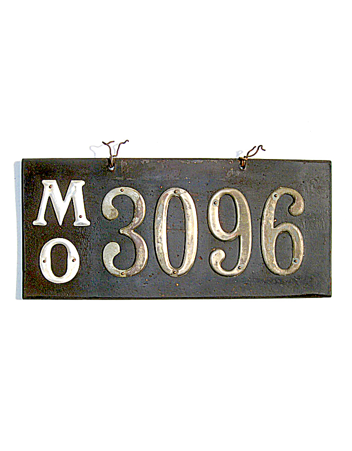 Old Missouri Leather License Plate 2