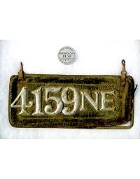 old Nebraska leather license plate 3