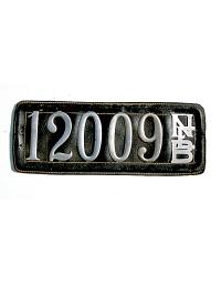 old Nebraska leather license plate 7