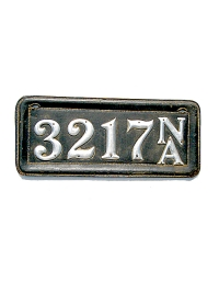 old Nebraska leather license plate 1
