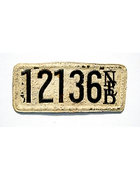 old Nebraska leather license plate 8