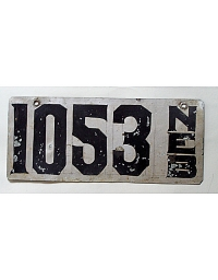 old Nebraska metal license plates 1