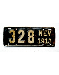 old Nevada metal license plates 4