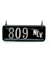 old Nevada leather license plate 2