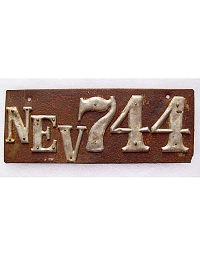 old Nevada leather license plate 1