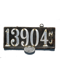 old New Jersey leather license plate 10