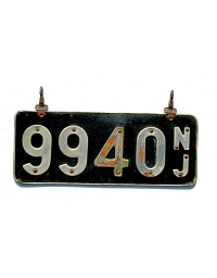old New Jersey leather license plate 8