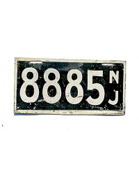 old New Jersey metal license plates 4