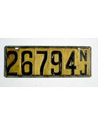 old New Jersey metal license plates 6