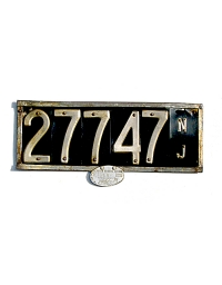 old New Jersey leather license plate 15
