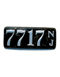 old New Jersey leather license plate 6