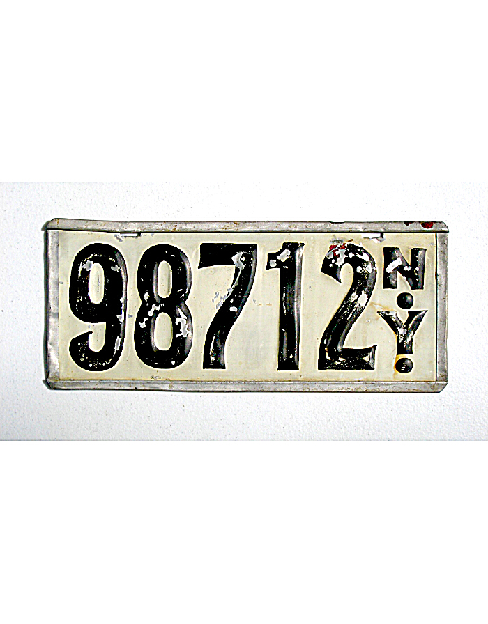 Vintage New York License Plates 121