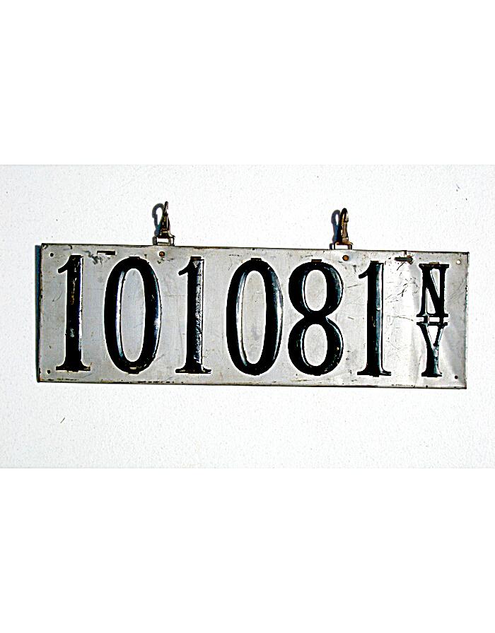 Vintage New York License Plates 72